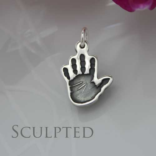Shaped Hand or Footprint Charm