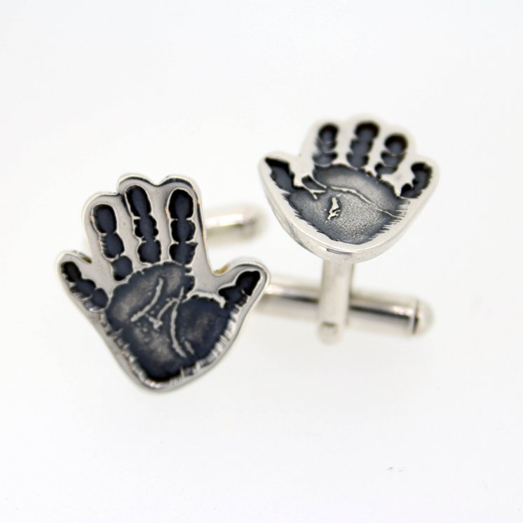 Shaped Hand or Foot Print Cufflinks